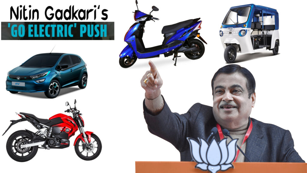 Go Electric Campaign - Electric vehicle usage should be made mandatory for all govt officials, says Gadkari.