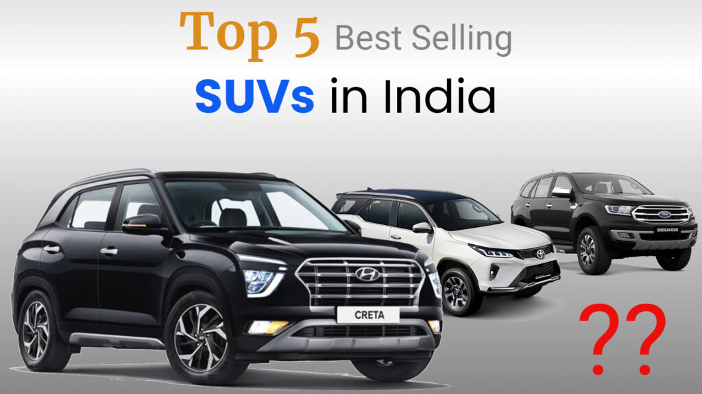 Top 5 Best selling SUVs in India 2021