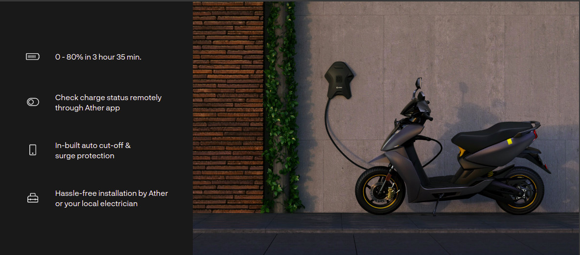 Ather 450X 2021 Home Charging