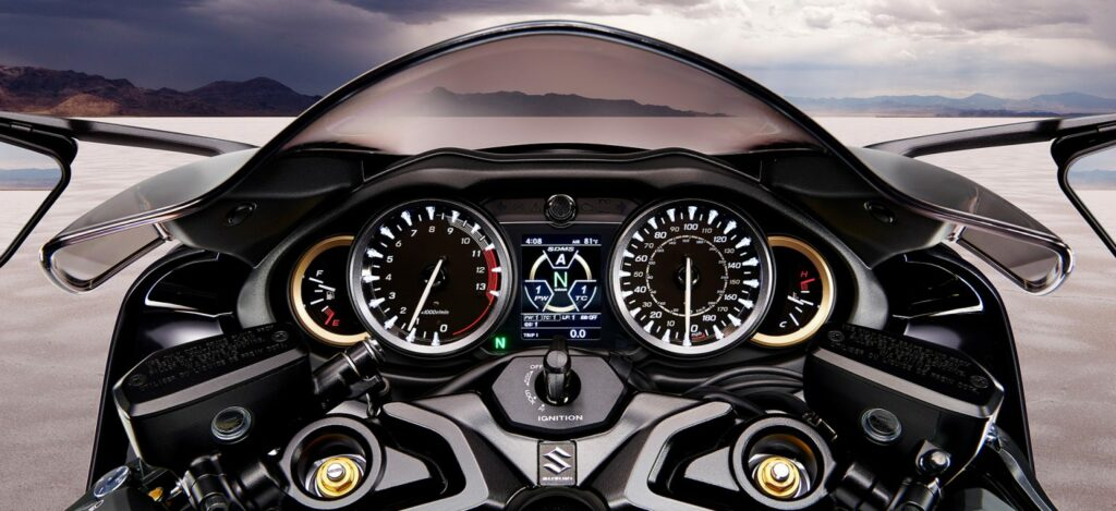 instrument cluster with a TFT display