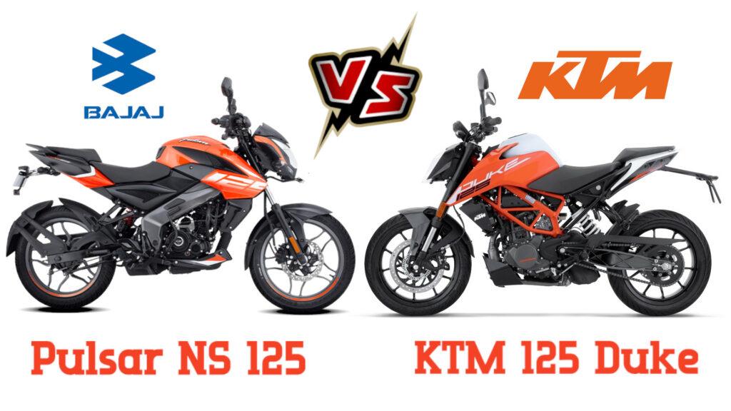 Bajaj Pulsar NS 125 vs KTM 125 Duke - Detail comparision