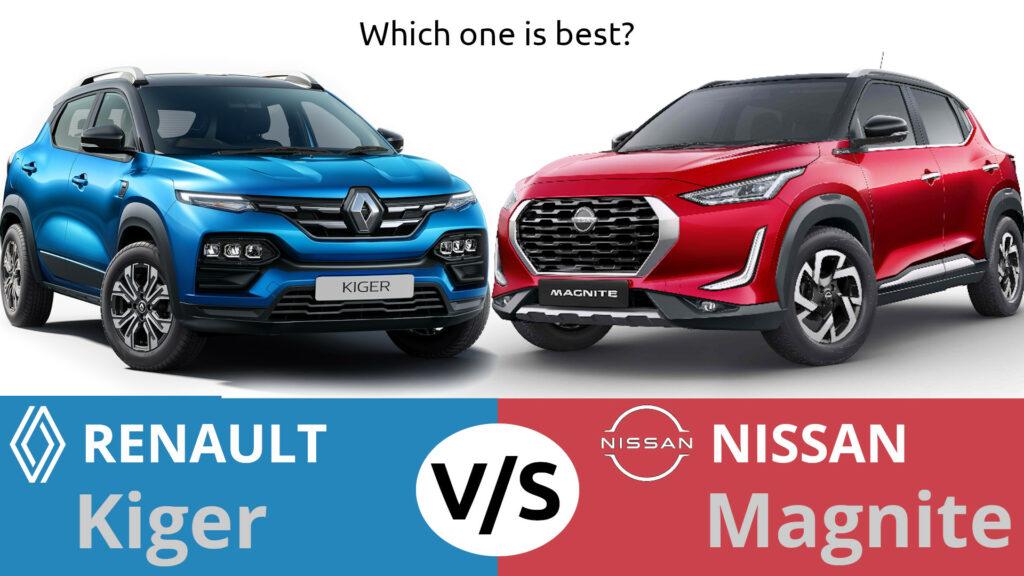 Renault Kiger vs Nissan Magnite Comparision