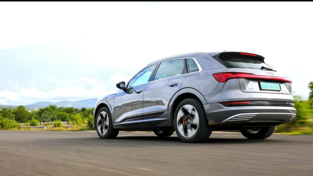 Audi e-tron - India test mule - Image source Twitter