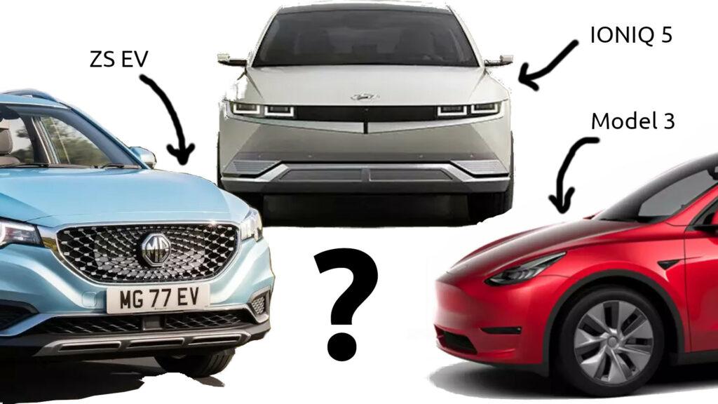 Hyundai IONIQ 5 vs MG ZS EV vs Tesla Model 3 - Range, Price & Value?