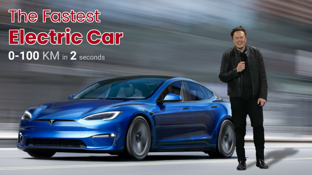 Fastest Electric Car Tesla Model S Plaid Launched - 0 to 100 km in 2 secs