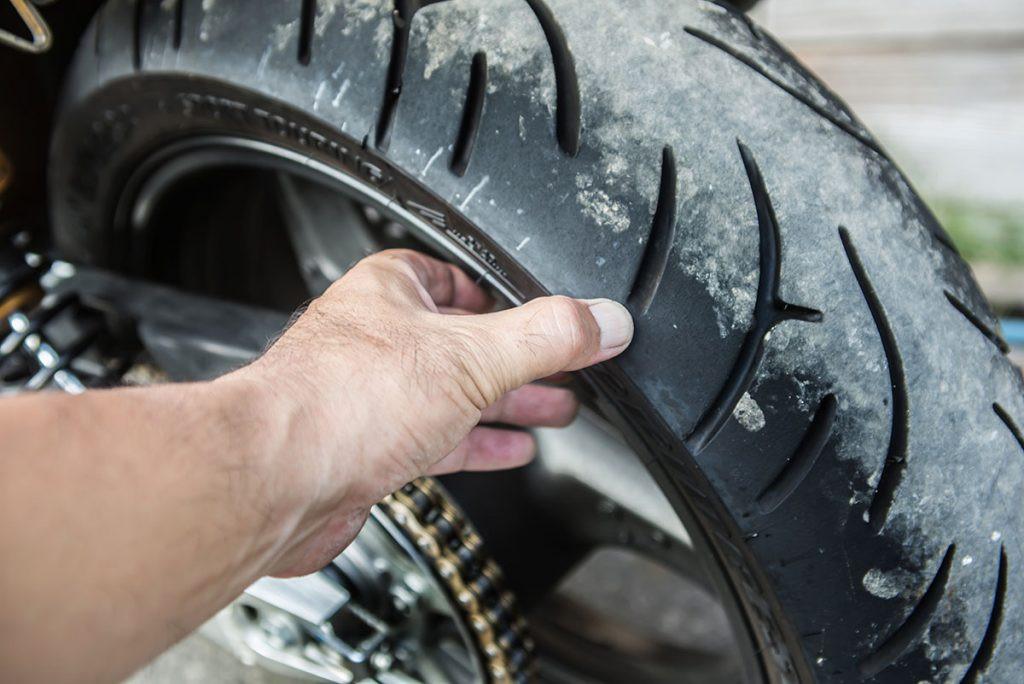 Bike maintenance tips - check your bike tyres