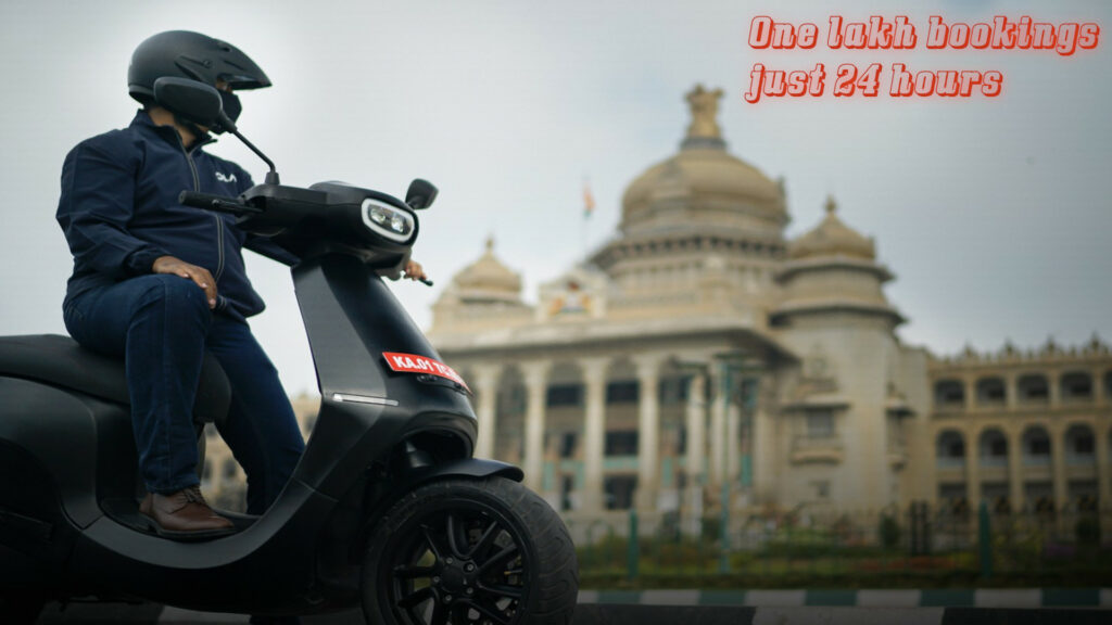 Ola Electric Scooter creates history | 1 lakh bookings in 1 day