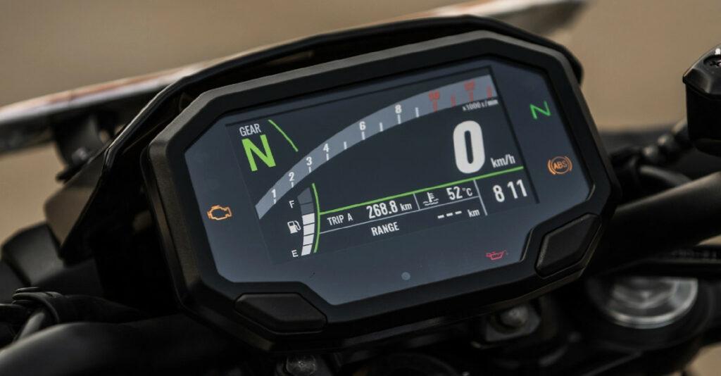 All-new Kawasaki Z650 Instrument Cluster