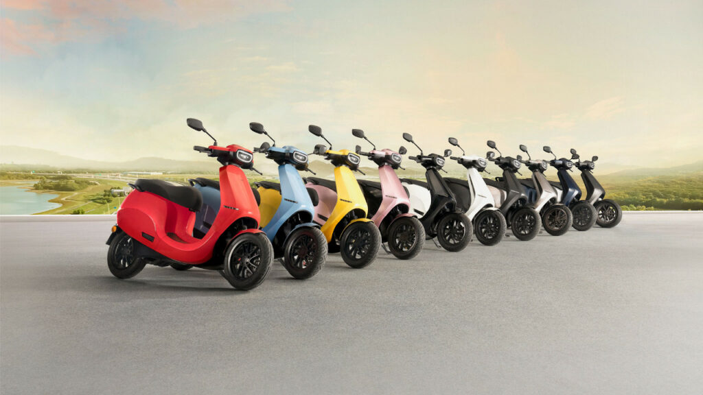 OLA Electric Scooter Design & Colours