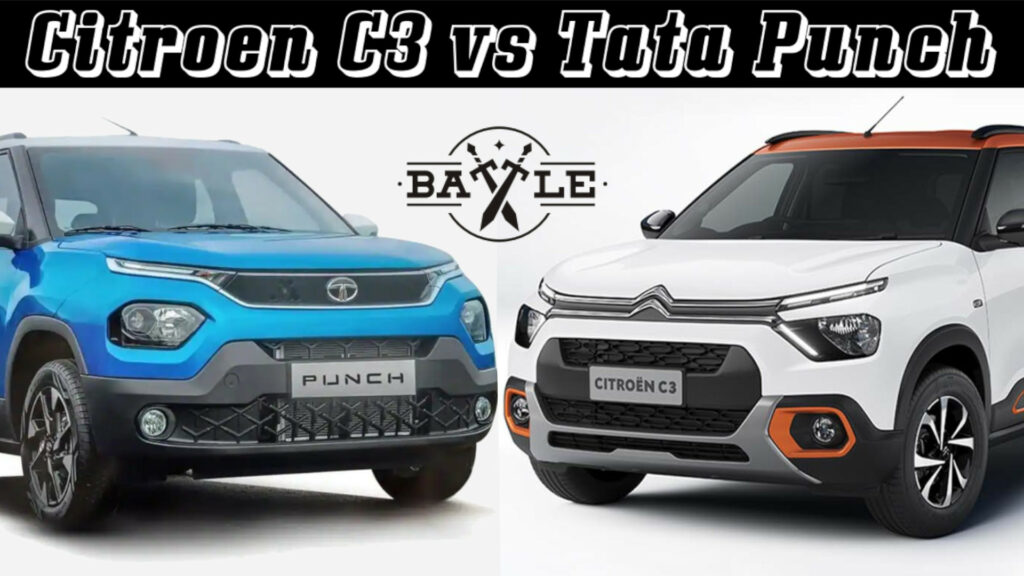 Citroen C3 vs Tata punch - know price, features, specifications and more