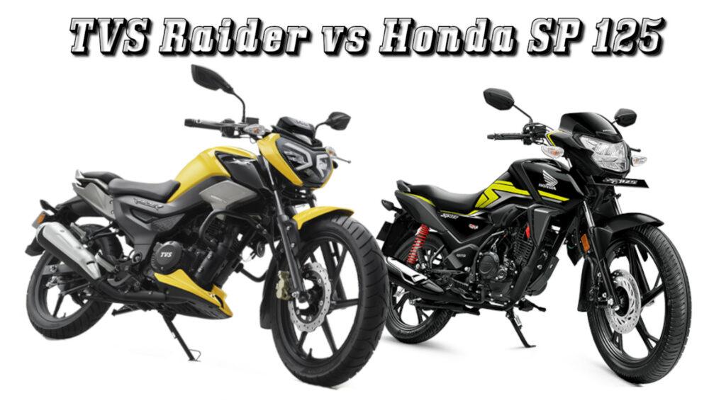 TVS Raider 125 vs Honda SP 125 - Heavy battle