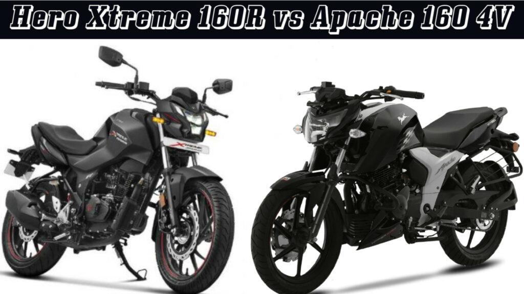 Hero Xtreme 160R vs Apache 160 4V - Specs comparison